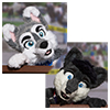 Eurofurence 2014 fursuit photoshoot. Preview picture of Dan Wolf, Marbles