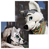 Eurofurence 2014 fursuit photoshoot. Preview picture of Nienna, Happy