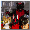 Eurofurence 2014 fursuit photoshoot. Preview picture of Blackymoon, Aurum, Hakan Wolf, …