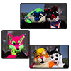 Eurofurence 2014 fursuit photoshoot. Preview picture of Gatchi, Fondy, Wiesel, …