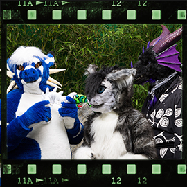Eurofurence 2015 fursuit photoshoot. Preview picture of Fishbones, Tylon, Secoh