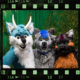 Eurofurence 2015 fursuit photoshoot. Preview picture of Squeeky, Rez, Kai