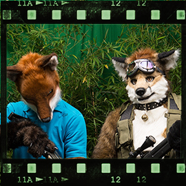 Eurofurence 2015 fursuit photoshoot. Preview picture of Rusty, Eru, Taiku, …