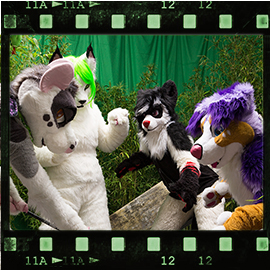 Eurofurence 2015 fursuit photoshoot. Preview picture of Sarah, Jail, FreesTyler, …