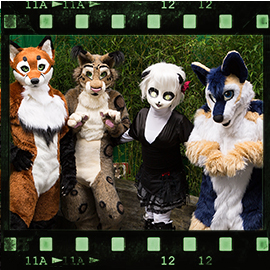 Eurofurence 2015 fursuit photoshoot. Preview picture of Leila, Keeba, Feligris, …