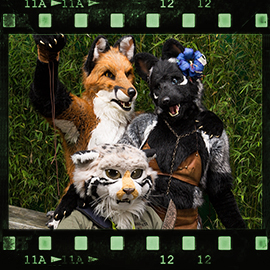 Eurofurence 2015 fursuit photoshoot. Preview picture of Alaea, Runo, Rynn