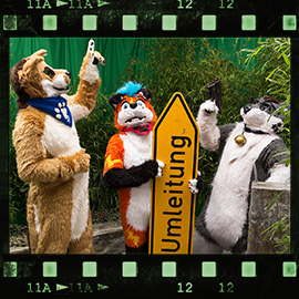 Eurofurence 2015 fursuit photoshoot. Preview picture of Flashpaw, Rhys Shepherd, Kiyo