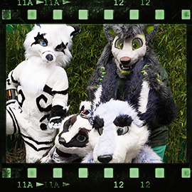 Eurofurence 2015 fursuit photoshoot. Preview picture of Jazzbadger, Zuzu, Danwolf, …