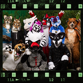 Eurofurence 2015 fursuit photoshoot. Preview picture of Wamblee, Felix, Raffe, …