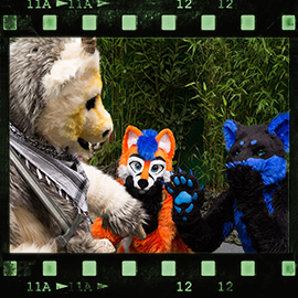 Eurofurence 2015 fursuit photoshoot. Preview picture of PainFree, Toothie, Ratze