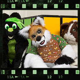 Eurofurence 2016 fursuit photoshoot. Preview picture of Cookie, Fero, Naxus