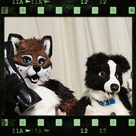 Eurofurence 2016 fursuit photoshoot. Preview picture of Drenky, Oreo