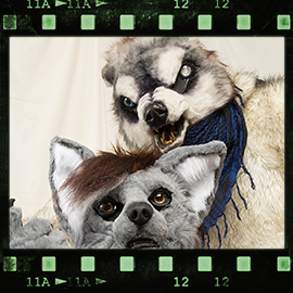 Eurofurence 2016 fursuit photoshoot. Preview picture of Masi-Anuk, Boardmaker the undead Wolf