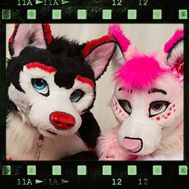 Eurofurence 2016 fursuit photoshoot. Preview picture of Strawberry, Rosie