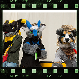Eurofurence 2016 fursuit photoshoot. Preview picture of Matthew, Pazuzu, Cody