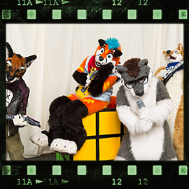 Eurofurence 2016 fursuit photoshoot. Preview picture of Rhys Shepherd, Kiyo, Devil Dog, …