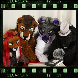 Eurofurence 2016 fursuit photoshoot. Preview picture of Sl@sh, Flippy, Mydeggi, …