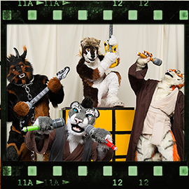 Eurofurence 2016 fursuit photoshoot. Preview picture of Jack Swift, Jin, Red Jeto, …