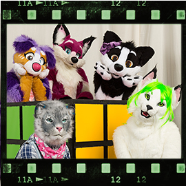 Eurofurence 2016 fursuit photoshoot. Preview picture of SarahLynx, Templa, Coco, …
