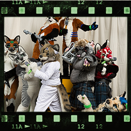 Eurofurence 2016 fursuit photoshoot. Preview picture of Brutus, Kokanee, Leaf Fox, …