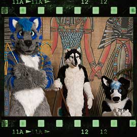 Eurofurence 2017 fursuit photoshoot. Preview picture of Bolt, Fex, Noroth