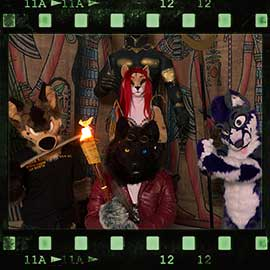 Eurofurence 2017 fursuit photoshoot. Preview picture of Ayce, Eddy, Mydeggi, …