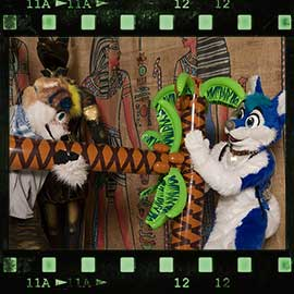 Eurofurence 2017 fursuit photoshoot. Preview picture of Atari, Jayco, Knuffie, …
