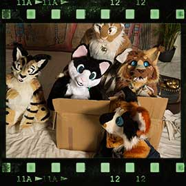Eurofurence 2017 fursuit photoshoot. Preview picture of Nessa, Pudge, Sketchkat, …