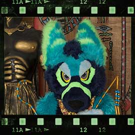 Eurofurence 2017 fursuit photoshoot. Preview picture of Waioshra