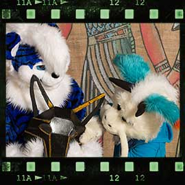 Eurofurence 2017 fursuit photoshoot. Preview picture of Blue Mouse, Kaida