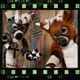 Eurofurence 2017 fursuit photoshoot. Preview picture of No named deer, Spring